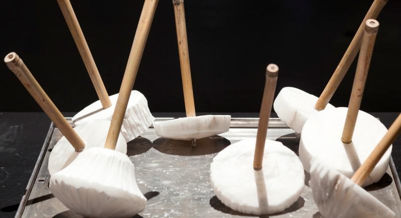 Alabaster spinning tops